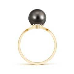 Toggle Tahitian Cultured Pearl Chevron Ring with Diamond
