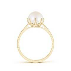 Toggle Freshwater Cultured Pearl Solitaire Crown Ring