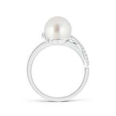 Toggle South Sea Cultured Pearl Swirl Ring with Diamonds
