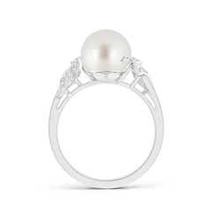 Toggle South Sea Cultured Pearl and Diamond Swirl Ring