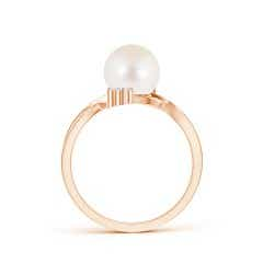 Toggle Freshwater Cultured Pearl Bypass Ring with Trio Diamond