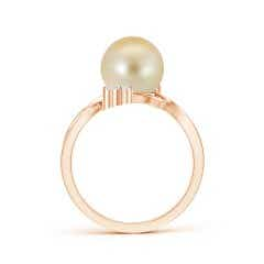 Toggle Golden South Sea Cultured Pearl Bypass Ring with Trio Diamond