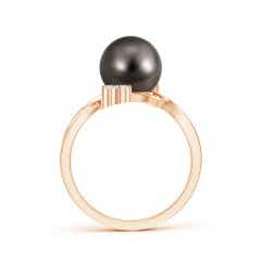 Toggle Tahitian Cultured Pearl Bypass Ring with Trio Diamond