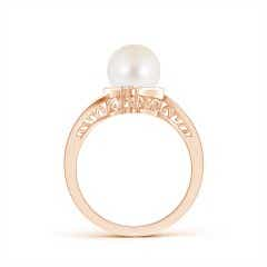 Toggle Freshwater Cultured Pearl Solitaire Ring with Diamond