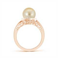 Toggle Golden South Sea Cultured Pearl Solitaire Ring with Diamond