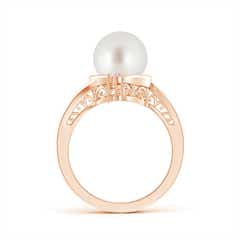 Toggle South Sea Cultured Pearl Solitaire Ring with Diamond