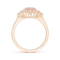 Toggle Classic Morganite Engagement Ring with Floral Halo