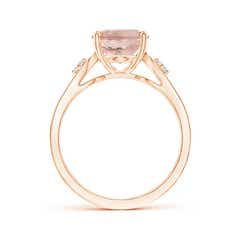 Toggle Solitaire Oval Morganite and Diamond Loop Ring