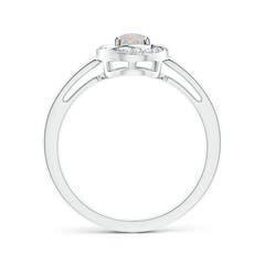 Toggle Classic Prong-Set Opal Pinwheel Ring with Diamonds