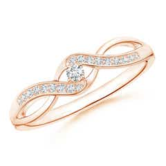 Solitaire Round Diamond Infinity Promise Ring