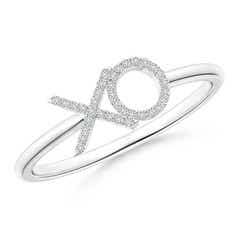 Pave-Set Diamond XO Ring