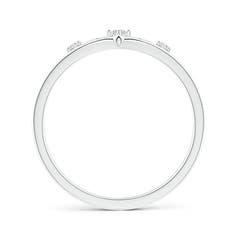 Toggle Scattered Round Diamond Princess Tiara Ring