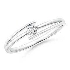 Solitaire Round Diamond Bypass Promise Ring