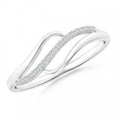 Diamond Swirl Bypass Ring