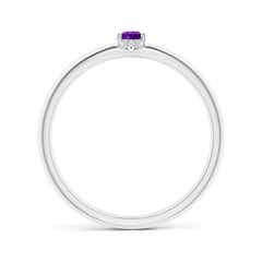 Toggle Classic Solitaire Oval Amethyst Promise Ring