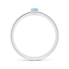 Toggle Classic Solitaire Oval Aquamarine Promise Ring