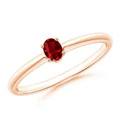 Classic Solitaire Oval Ruby Promise Ring