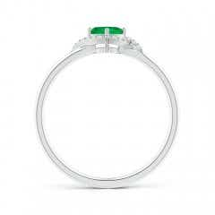 Toggle Cushion Emerald and Diamond Halo Promise Ring