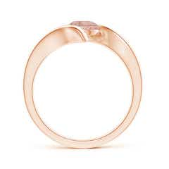 Toggle Bar-Set Solitaire Round Morganite Bypass Ring