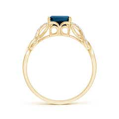 Toggle Emerald-Cut Solitaire London Blue Topaz Infinity Twist Ring