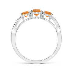 Toggle Oval Citrine Three Stone Criss-Cross Ring
