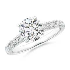 Classic Diamond Engagement Ring with Diamond Accents