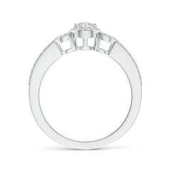 Toggle Triple Frame diamond Halo Promise Ring