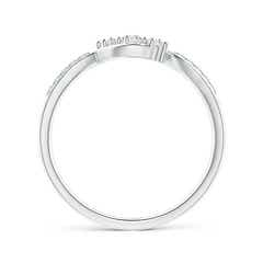 Toggle Diamond Infinity Twist Three Stone Bypass Ring