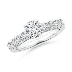 Scroll Filigree-Motif Diamond Solitaire Engagement Ring