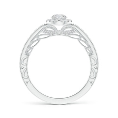 Toggle Vintage Style Diamond Halo Engagement Ring