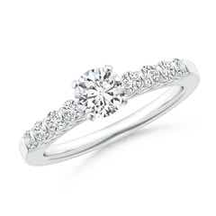 Bar-Set Reverse Trellis Diamond Solitaire Engagement Ring