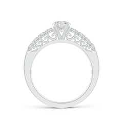 Bar-Set Reverse Trellis Diamond Solitaire Engagement Ring