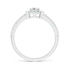Toggle Floating Princess-Cut Diamond Halo Promise Ring