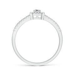 Angara Floating Princess-Cut Diamond Halo Promise Ring VCYLG0Il7c