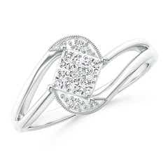 Cluster Diamond Accent Bypass Promise Ring