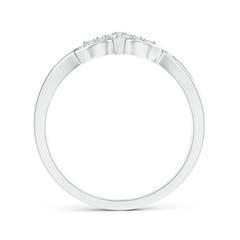 Toggle Illusion Set Diamond Crossover Promise Ring