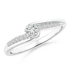 Six Prong-Set Solitaire Diamond Bypass Promise Ring