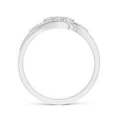 Toggle Round Diamond Three Stone Swirl Bypass Ring