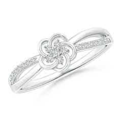 Round Cluster Diamond Daisy Flower Ring