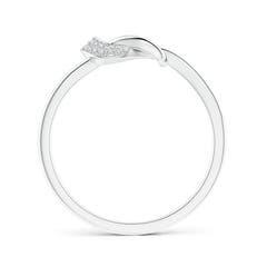 Toggle Pave-Set Diamond Split Infinity Knot Ring