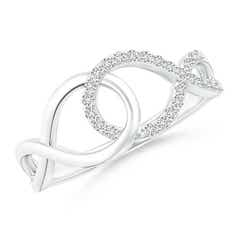 Interlinked Open Loop Diamond Infinity Ring
