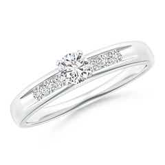 Channel Grooved Classic Diamond Solitaire Engagement Ring