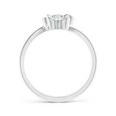 Toggle Solitaire Diamond Clover Bypass Ring