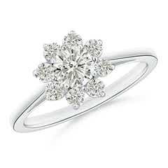 Classic Moissanite Floral Ring