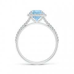 Toggle Aquamarine Twist Rope Split Shank Ring