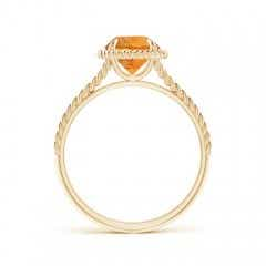 Toggle Citrine Twist Rope Split Shank Ring