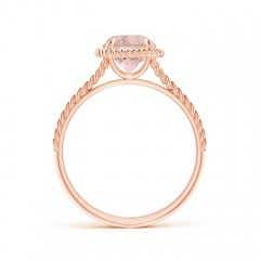 Toggle Morganite Twist Rope Split Shank Ring