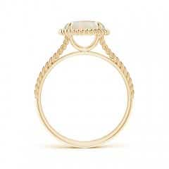 Toggle Opal Twist Rope Split Shank Ring