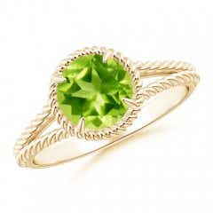 Angara Peridot and Diamond Halo Engagement Ring in White Gold VXhY2Z5h