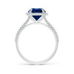 Toggle GIA Certified Sapphire Twist Rope Split Shank Ring